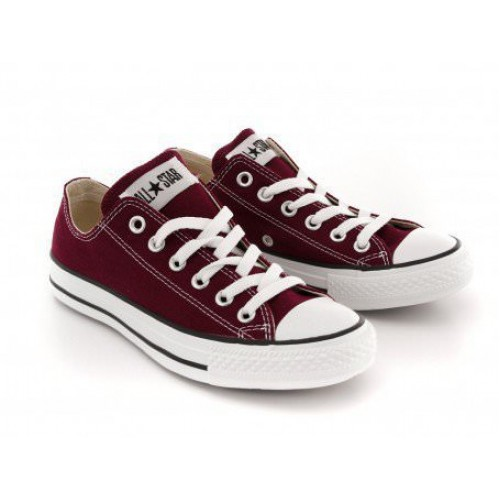 Converse Chuck Taylor All Star Low Bordo женские кеды