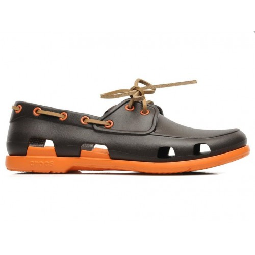 Crocs Beach Line Boat Shoe Brown Orange мужские