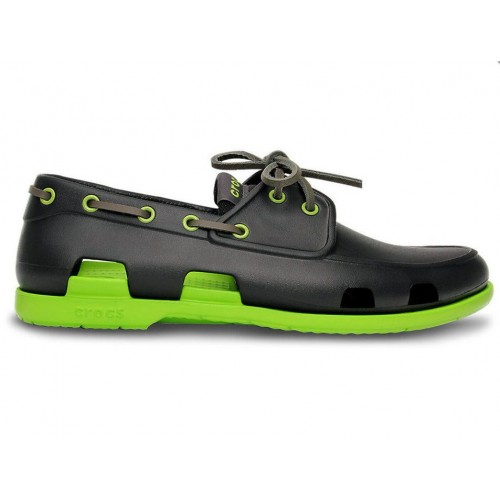 Crocs Beach Line Boat Shoe Dark Grey Green мужские