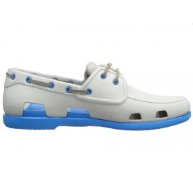 Crocs Beach Line Boat Shoe Grey Blue мужские