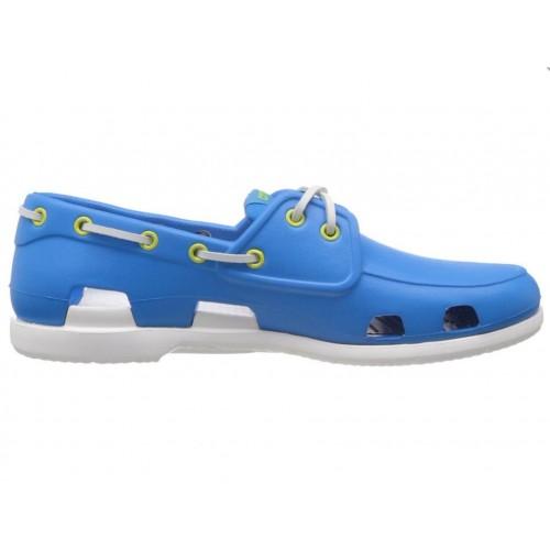Crocs Beach Line Boat Shoe Blue White мужские