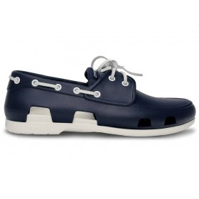 Crocs Beach Line Boat Shoe Dark Blue White мужские