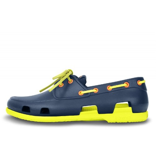 Crocs Beach Line Boat Navy/Citrus Shoe мужские
