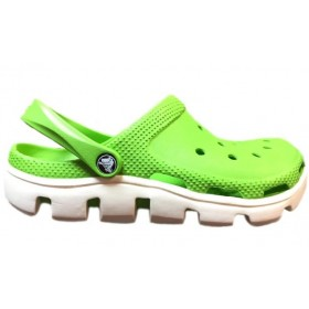 Crocs Duet Sport Clog Green White мужские