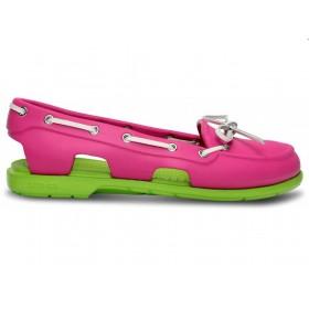 Crocs Beach Line Boat Shoe Pink Green женские