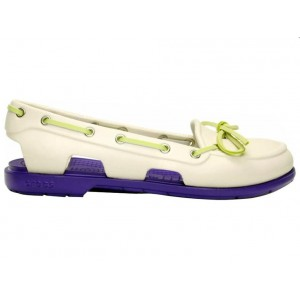 Crocs Beach Line Boat Shoe Milk Purple женские