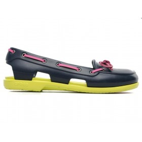 Crocs Beach Line Boat Shoe Green Pink женские