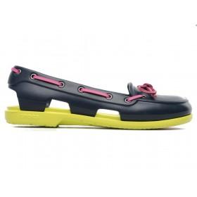 Crocs Beach Line Boat Shoe Green Pink женские