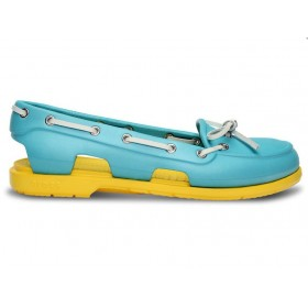 Crocs Beach Line Boat Shoe Blue Yellow женские