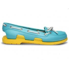 Crocs Beach Line Boat Shoe Blue Yellow женские
