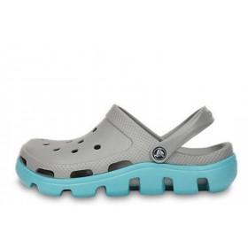 Crocs Duet Sport Clog Grey Light Blue женские