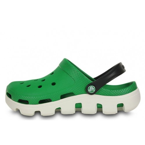 Crocs Duet Sport Clog Green White женские