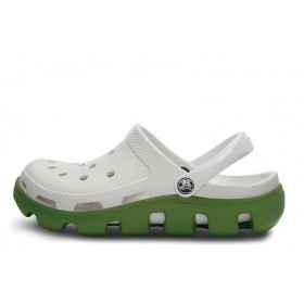 Crocs Duet Sport Clog White Green женские