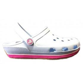 Crocs Duet Sport Clog New Light Blue Pink 2 женские