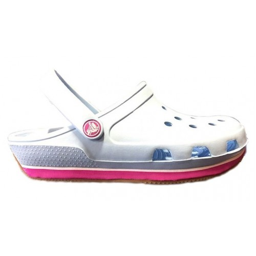 Crocs Duet Sport Clog New Light Blue Pink 2 женские