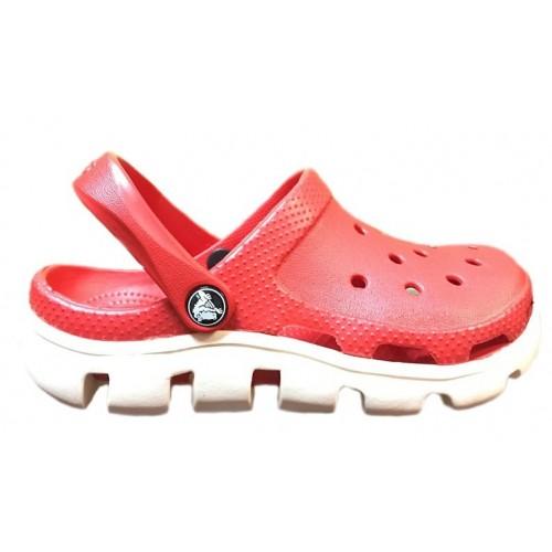 Crocs Duet Sport Clog Red White женские