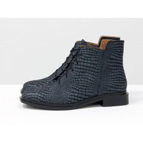 Женские низкие ботинки Gino Figini на плоском каблуке из текстурированной кожи