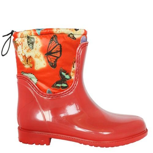 Женские резиновые сапоги Valex Red Butterfly