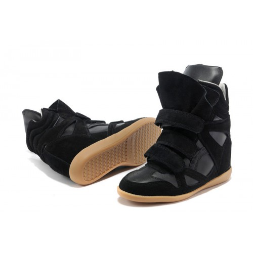 Сникерсы Isabel Marant (Изабель Марант) Copy High-Top Black Sneakers