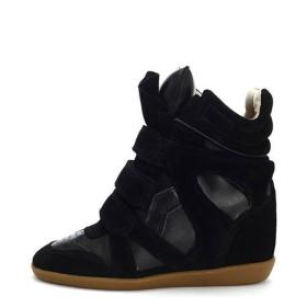 Сникерсы Isabel Marant (Изабель Марант) Black Leather Sneakers
