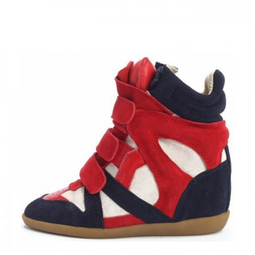 Сникерсы Isabel Marant (Изабель Марант) Red Navy Sneakers