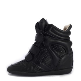 Сникерсы Isabel Marant (Изабель Марант) Black Tracery Leather Sneakers