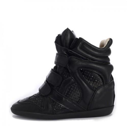 Сникерсы Isabel Marant (Изабель Марант) Black Tracery Leather Sneakers