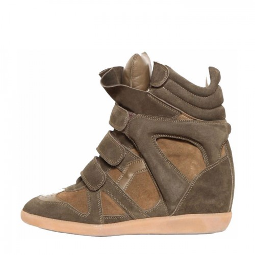 Сникерсы Isabel Marant (Изабель Марант) Khaki Sneakers