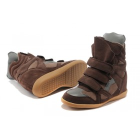 Сникерсы Isabel Marant (Изабель Марант) Copy High-Top Brown Sneakers