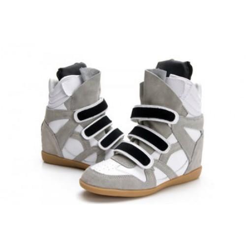 Сникерсы Isabel Marant (Изабель Марант) Copy High-Top Grey Sneakers
