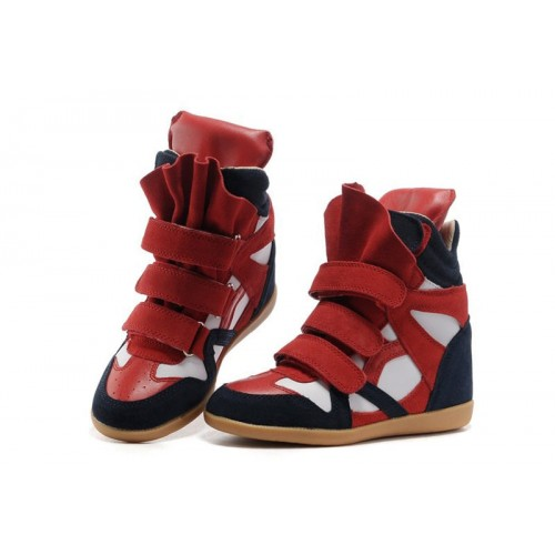 Сникерсы Isabel Marant (Изабель Марант) Copy High-Top Red Navy Sneakers