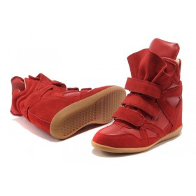 Сникерсы Isabel Marant (Изабель Марант) Copy High-Top Red Sneakers