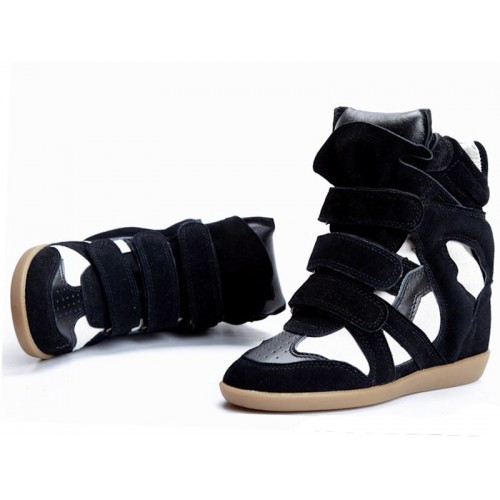Сникерсы Isabel Marant (Изабель Марант) Copy High-Top Black White Sneakers