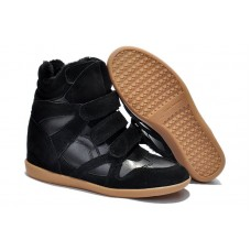 Зимние сникерсы Isabel Marant Copy High-Top Black Sneakers