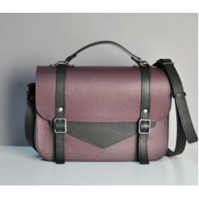 Jizuz College Satchel Wine Black