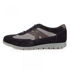 King Paolo Sneakers Black Grey мужская ортопедическая обувь