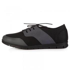 King Paolo Comforevo Style Grey Black мужская ортопедическая обувь