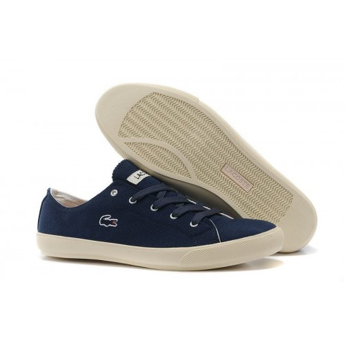 Lacoste Seed Casual Blue Canvas мужские кеды