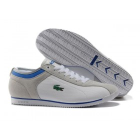 Lacoste Seed Casual Grey Blue мужские кроссовки