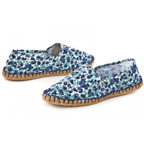 Эспадрильи женские Las Espadrillas Casual Pretty Flowers Blue
