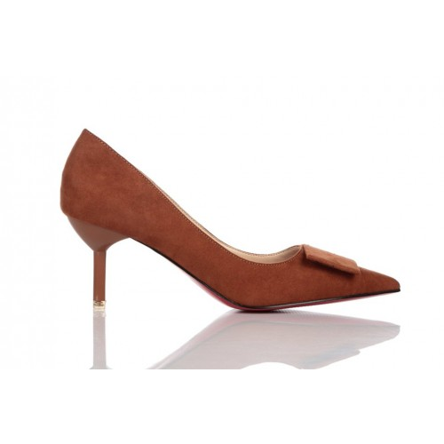 Loren Leather Pumps Brown 115505 женские туфли