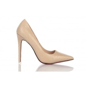 Loren Leather Pumps Beige 115516