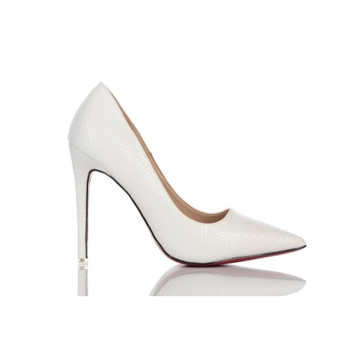 Loren Leather Pumps White 115517 женские туфли
