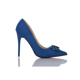 Loren Leather Pumps Blue 115521