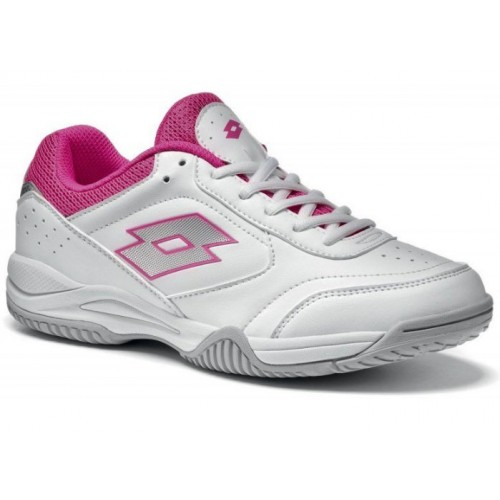 Lotto Court Logo XII W White Fuxia Light