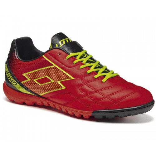 Lotto Spider XII TF Red Warm Yellow Safety мужские кроссовки (оригинал)