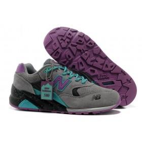 New Balance 580 Grey Purple женские кроссовки