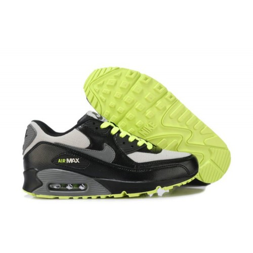 Nike Air Max 90 Black Green Gray мужские кроссовки