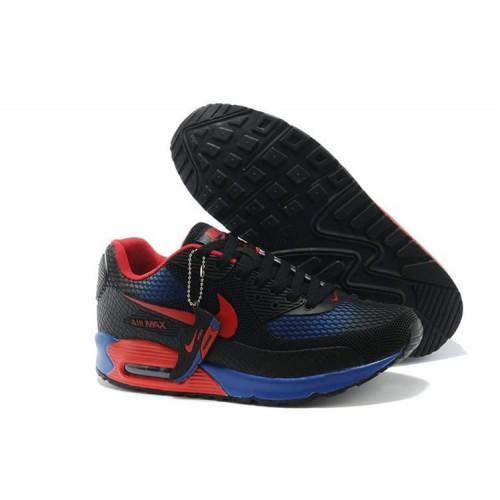 Nike Air Max 90 Gl Black Blue Red мужские АирМаксы