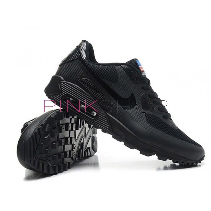 583b2eb8ec0c ... Nike Air Max 90 Hyperfuse Independence Day Black мужские кроссовки ...
